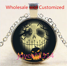 Nightmare Before Christmas Cabochon silver Glass Chain Pendant Necklace #4958