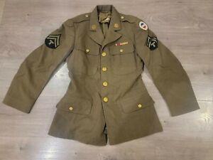 WW2 UNIFORM JACKET, TRENCH COAT, HATS, SHIRTS, CLOTHES LOT