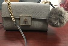 Mossimo Target Boy Bag Taupe with Gold Hardware and bag charm