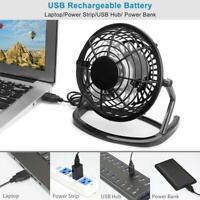 Convenient Mini USB Fan Summer Desktop Desk Silent 360° Fan Adjustable E3Z5