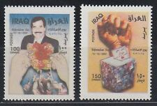 Irak Iraq 2002 ** Mi.1706/07 Referendum Saddam Hussein
