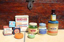 Vintage Medical Lot of 10 BAND-AID GAUZE BORIC ACID VASOLINE PRID Advertising
