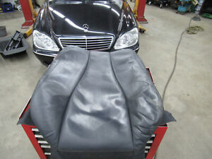 00-02 Mercedes W220 Black Leather Front Upper Seat Cover Left or Right
