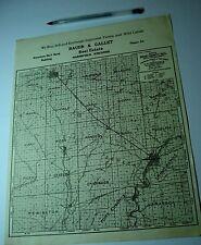 Antique Marshfield Wi Wood County Plat Map