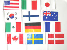 """72 - 4"""" x 6"""" HAND HELD INTERNATIONAL FLAGS COUNTRY MULTICULTURAL PARTY GEOGRAPHY"""