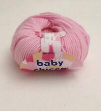 Filati gomitoli ferri maglia 100% Baby Lana merinos Rosa