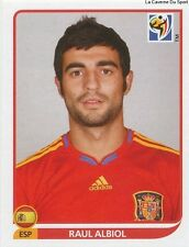 N°568 RAUL ALBIOL # ESPANA STICKER PANINI WORLD CUP SOUTH AFRICA 2010