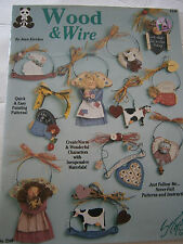Wood & Wire Crafts Paint Pattern Book Angel Cow Cat Teacher Witch Bunny Heart