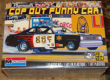 Revell Monogram Tom Daniels COP OUT Plymouth Duster funny car Model Kit 1/24