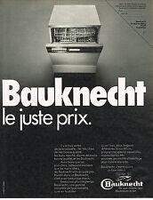 PUBLICITE  1973   BAUKNECHT   lave vaisselle au juste prix