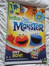 SESAME STREET ONCE UPON A MONSTER VIDEOGAME DOUBLE-SIDED PROMO POSTER brand new!