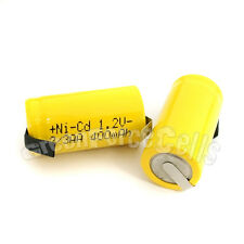 10 pcs 2/3AA 2/3 AA 400mAh NiCd Ni-Cad 1.2V Volt Rechargeable Battery Cell