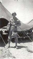 WWII Org Large Army RP- Soldier- Desert- Tent- Helmet- Gasmask- Holds OD Bag