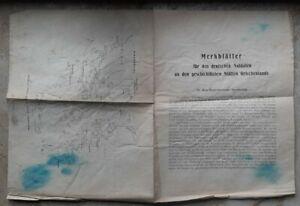 Griechenland Merkblätter deutsche Soldaten Karte Hellas Original Dokument