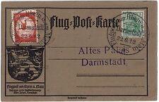 GERMANY 1912 PIONEER ZEPPELIN AIR MAIL 20pf GOOSE Mi II SCHWABEN FLOWN SIEGER II