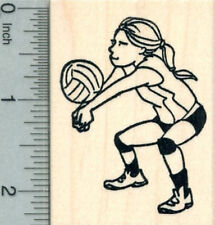 Volleyball Player Rubber Stamp, Girl J30318 WM