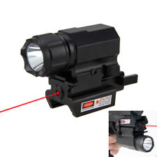 5000LM R5 LED Rifle/Gun Flashlight Light Rail Mount + Red Dot Laser Sight Scope