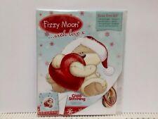 Fizzy moon  Christmas cross stitch chart / card kit