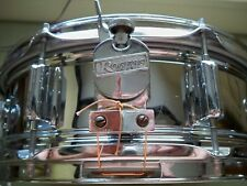 Rogers Powertone Chrome Over Brass Shell Snare Drum Very Nice Condition