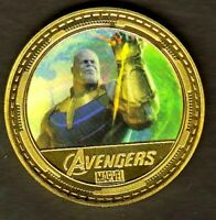 ●●● MEDAILLE PLAQUéE OR : AVENGERS / MARVEL / THANOS ●●●