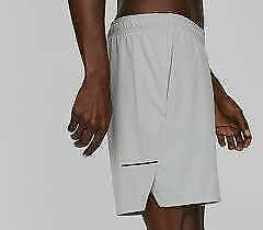 """NEW HILL CITY GREY 7"""" PERFORATED RUN SHORTS WITH LINER M"""