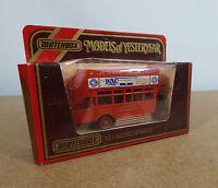 Matchbox Model of Yesteryear - Y23 1922 AEC Omnibus R.A.C advertising 1984 ltd