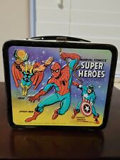 Vintage 1976 Marvel Comics Super Heroes Lunchbox and Thermos Thor Hulk Iron Man