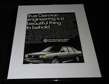 1986 Volkswagen VW Quantum GL Sedan Framed 11x14 ORIGINAL Advertisement
