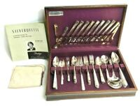 Oneida Prestige Silver Plate 1938 Grenoble 78 Piece w/Case Service for 8