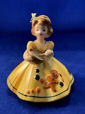 Vtg Josef Originals Sugar Spice Favorite Saying Gingerbread Girl Figurine Damage