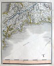 CORNWALL FALMOUTH BODMIN LOOE FOWEY TRURO JOHN CARY GENUINE ANTIQUE MAP  c1822