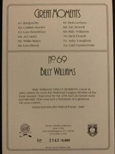 Billy Williams Autographed Perez-Steele Great Moments Card Chicago Cubs