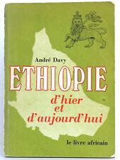 Éthiopie d'hier et d'aujourd'hui, André DAVY. Le Livre africain, 1970.