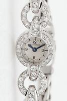 Vintage $10,000 1.50ct VS G Diamond Jaeger LeCoultre Ladies Platinum Watch
