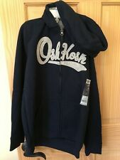NEW OshKosh Logo Hoodie Boys Sweatshirt Jacket Navy Blue...