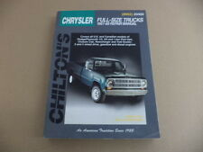 1967-1988 Chrysler Full-Size Trucks Repair Manual by Chilton's (8662)20400