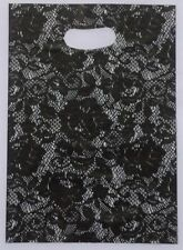 Black Lace Design Plastic Pouch Shopping Gift Package Bag 2003 100pcs 20x15cm