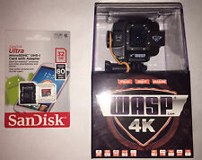 Wasp Cam 4K 9907 WiFi Waterproof Action Sports Camera w/ Free 32GB SD Card