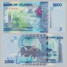 Uganda 2000 Shillings 2010 p50a unc.