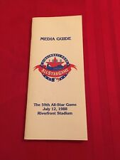 1988 MLB All-Star Game media guide / Cincinnati / Gooden / Molitor / Steinbach