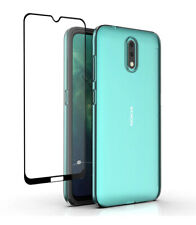 SDTEK Case for Nokia 2.3 + Full Screen Glass Protector Clear Cover Gel