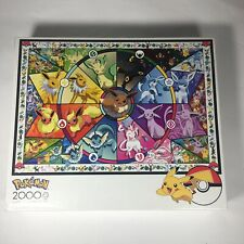 New Sealed Pokemon Buffalo Games- Eevee's Stained Glass 2000 Piece Jigsaw Puzzle