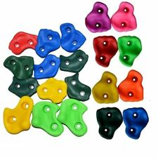 Assorted Color Kids Rock Climbing Plastic Wall Stones Hand Feet Holds Grip Kits