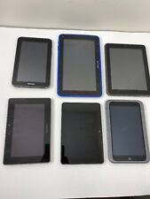6 AS IS tablets  Visual Land Nook Amazon Next book Blackberry Samsung