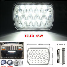 "7""X6'' 15LED HID Bulb Auto Light Crystal Clear Sealed Hi/Lo Beam Headlight Lamp"