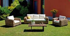 salotto da esterno giardino rattan naturale gigante design salotti divani set
