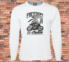 JB's Long Sleeve white T-shirt Freedom Speed Chief Indian Motorcycles