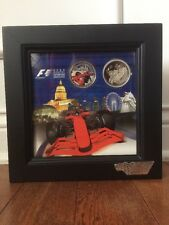 2008 F1 Singtel Singapore Grand Prix MEDALLION SET ~ Framed Formula 1 Coins Mint