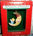 Sweet Dreams`1988`Miniature-Little Angel Sitting On Moon,Hallmark Tree Ornament