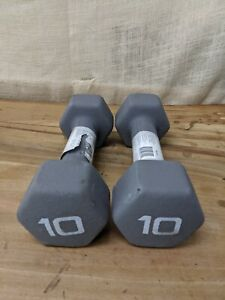 1 Set CAP Hex Neoprene Dumbbell 10 Pound Pair (20 lb Total Weight)
